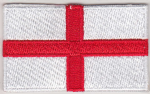 England Embroidered Flag Patch, style 04.